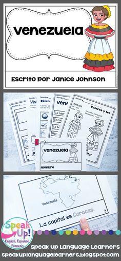 Venezuela Reader {en español} & Vocab pages ~ Simplified for Language Learners Bilingual Classroom, Spanish Classroom, Teaching Spanish, Elementary Teaching, Dual Language, French Language, Middle School Spanish, Spanish Immersion, Spanish Culture