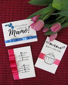 Komoda Pomysłów: 3 Kartki na Dzień Matki + wzory do wydrukowania Blog, Cards, Handmade, Hand Made, Blogging, Maps, Playing Cards, Handarbeit