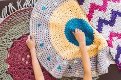 Alfombras de trapillo Forma Circular, Peter Rabbit, Felt, Kids Rugs, Home Decor, Cotton Canvas, How To Knit, Rugs, Trapillo
