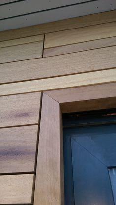 Iroko cladding frame detail | Riverside House | Henley | Adlon Construction