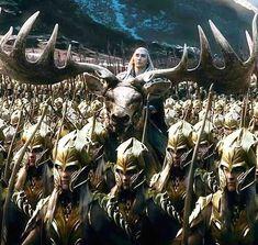 Thranduil and his forest Elves   . . . . . . . . . . .  #battleofthefivearmies  #thehobbit #thranduil #silvan #silvanelves #silvanelf #forestelf #forestelves #elvenking #theelvenking #armored #desolationofsmaug #bilbobaggins #tolkien #jrrtolkien #tolkienjrr #splendidsight #loveelves #elflove