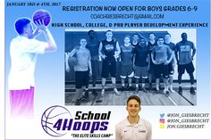 """School 4 Hoops Presents """"The Elite Skills Camp"""" for Grades 6 to 9 Boys Jan 3-4    Local basketball coach Jon Giesbrecht has announced he will be hosting his annual School 4 Hoops Elite Skills Camp which is open to boys currently in grades 6-9 on January 3 & 4 3017 in Winnipeg. Cost to register for the 2 day camp is $75 a person and will run from 12:30 - 4:00 pm each day.  Jon Giesbrecht has worked with Youth High School Provincial Team National Team University and Professional players. Jon…"""