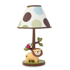 $50 Lambs & Ivy® Treetop Buddies Lamp Base with Shade and Bulb