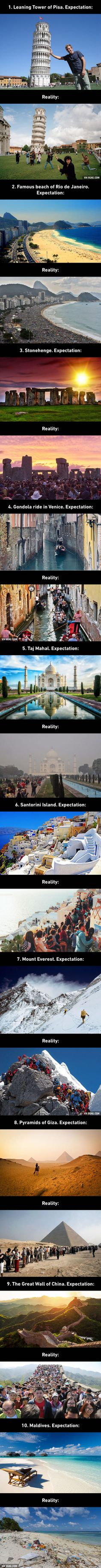The Best Of Expectations Vs Reality Pics Funny Pictures - 20 photos that sum up your travel expectations vs reality