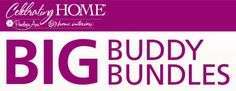 Huge Big Sale coming your way this Sunday at midnight! Cst (Sales officially starts Monday at 12:01 am cst. You will be able to choose a Big Buddy Bundle! ✔$100 Bundle for only $40.00 ✔$500 Bundle for only $150.00 ✔$750 Bundle for only $200.00 Start your holiday shopping now at amazing prices. This is while supplies last. Click on this link at midnight cst on Sunday, then click on Special Sales to check out this amazing deals! http://www.celebratinghome.com/sites/52646159