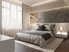 Интерьер квартиры в современном стиле в ЖК «Duderhof Club», 165 кв.м.