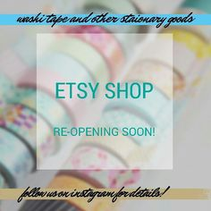 Getting ready to open up my Etsy shop again!  This time we'll have lots of #washitapes and #stationary goods!  #stationaryaddict #diy #plannersociety #plannerlove#plannerjoy#plannercommunity#plannerdecoration#prettyplanners#filofax#filofaxlove #maskingtape #erincondrenlifeplanner #erincondrenplanner #erincondrenlove #filofax #filofaxlove #kikkik #kikkiklove #kikkikplanner #plumpaperplanner #inkwellpressplanner #plannerclips #plannerclip #planneraccessories #cutepens #penaddict #etsyshop by…