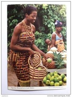Igbo Woman At A Local Market   1960s
