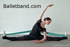 ballet ballet ballet! Dancer Hannah Windows demonstrating a straddle split stretch using Balletband. For more info click image or visit http://Balletband.com