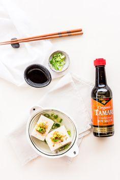Yudofu Simple Hot Tofu Recipe - With a subtle blend of Pure Harvest Organic Tamari, dashi stock and mirin, this Japanese Hot Tofu (Yudofu) recipe is as nourishing as it is comforting. | wandercooks.com