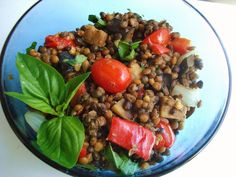 """Quick Lentil Dinner """"It's always a good idea to have a few quick and healthy food items around to whip up when you are short on time. Cubed Beef Recipes, Lentil Recipes, Pork Chop Recipes, Fish Recipes, Healthy Recipes, Healthy Meals, Healthy Food, Quick Pancake Recipe, Stuffing Recipes"""