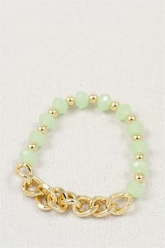 Chained in Mint Bracelet | three bird nest #threebirdnest #springintoit