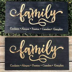 Family Custom Engraved Pinewood Sign - Knot and Nest Designs Diy Wood Projects, Vinyl Projects, Wood Crafts, Diy Wood Signs, Engraved Wood Signs, Circuit Projects, Cricut Vinyl, Sticker Vinyl, Cricut Creations