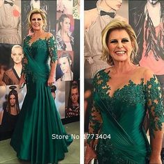 2015 Vintage Dark Green Beaded Mother of the Bride Dress Lace Appliques Wedding Guest Outfit Party Dresses Plus Size Custom Made