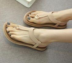 1252a26e0ed4 SIKETU Summer Shoes Women Bohemia Ethnic Flip Flops Soft Flat Sandals Woman  Casual Comfortable Plus Size Wedge Sandals 35-45