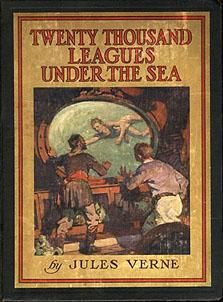 Twenty Thousand Leagues Under the Sea BY: Jules Verne. A riveting adventure story from the genius of Jules Verne. Jules Verne, I Love Books, Good Books, My Books, Film Books, Book Authors, Adventure Novels, Leagues Under The Sea, Vintage Book Covers