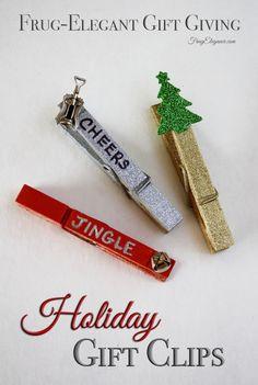 Easy Holiday Gift Clips | FrugElegance | www.frugelegance.com