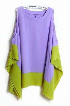Contrast Paneled Chiffon Blouse. I'm going to try sewing this one next week, think I have it figured out.