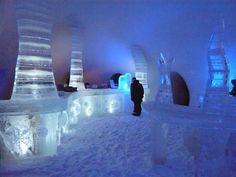 The Ice Bar in Snow Castle LumiLinna, Kemi Finland. Northern Lights Igloo, Igloo Village, Snow Castle, Crazy Houses, Ice Bars, Ice Castles, Snow And Ice, Funny Design, Helsinki