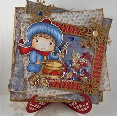 From our Design Team! Card by Jenny Dix featuring Drummer Boy Luka and these Dies - Large Snowflakes 1 (Set of 2), Build-A-Frame Stitched Smal (Set of 2) , Build-A-Frame Fancy Small (Set of 2)  :-) Shop for our products here - lalalandcrafts.com Coloring details and more Design Team inspiration here - http://lalalandcrafts.blogspot.ie/2016/08/use-kraft.html