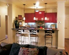 Lighting and Colors for Small Apartment Kitchen Design