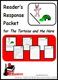 Tortoise and the Hare Reader's Response Packet - 20 pages of literacy center activities that require no prep - FREE