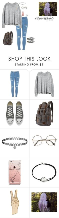 """""""Aura Khalid [Everyday 2]"""" by lesbianpride ❤ liked on Polyvore featuring River Island, Converse, Alex and Ani, Lucky Brand, YoungJustice and YoungJusticeOC"""