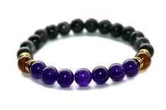 Amethyst Bracelet Labradorite Bracelet Healing Jewelry by ZenDeLux