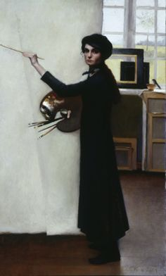 I really like this artists work. Louise C. Fenne - Figures in interiors