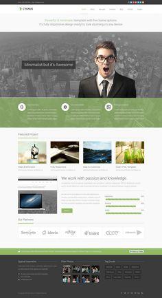 Cygnus - Minimalist Business Wordpress Theme 8 #wordpress #theme #website #template #responsive #design #webdesign #flat #metro #modern #minimal