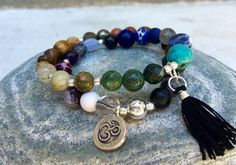 LiL REGULATE Chakra Balancing Double Wrist Mala Bracelet, All 7 Chakras, Rainbow Prayer Beads by FTSoul on Etsy https://www.etsy.com/listing/270027636/lil-regulate-chakra-balancing-double