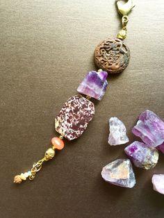 Tibetan Buddhist Skull Keychain Mala Bead Asian Carved Amulet Double Dragons Good Fortune Boho Chic Fob Car Charm Purse Beads Raw Gem Opals by MinedStars on Etsy