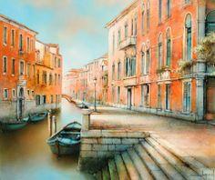Paris Painting, French School, Architectural Section, Corsica, Bruges, Paris Street, Provence, Venice, Amsterdam