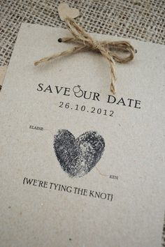 Kraft rustique 12 Save the Date cartes par adrimdesign sur Etsy