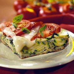 Pizza de calabacitas y tomate
