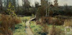 Kirillov Vladimir. Villages on the brink. canvas/oil 15.5cm x 30.5cm 2011