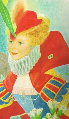 """Ugo Fontana (published under the pseudonym """"Uno""""), illustration for """"La piccola guardiana di oche""""."""