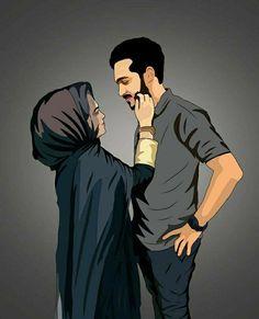 Love Cartoon Couple, Cute Cartoon Pictures, Cute Couple Art, Cute Love Cartoons, Anime Love Couple, Cartoon Pics, Girl Cartoon, Cartoon Love Photo, Couples Musulmans
