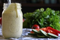 This homemade ranch dressing recipe uses all-natural ingredients, unlike store bought bottles which read like a chemistry text.