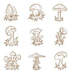 Mushrooms nature outdoors outside plant fungi fungus Mushroom Drawing, Mushroom Art, Drawing Sketches, Art Drawings, Trippy Mushrooms, How To Draw Mushrooms, Graffiti, Mushroom Tattoos, Psychedelic Drawings