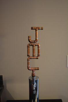 Copper Pipe Tap Handle - Three Letters Custom Industrial Beer Tap Handle on Etsy, $75.00 Copper Pipe Taps, Bar Refrigerator, Nursing Homes, Beer Taps, Current News, Bar Ideas, Distillery, Glass Door, Resorts