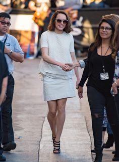 Daisy Ridley Star Wars Promotion on 'Jimmy Kimmel Live'