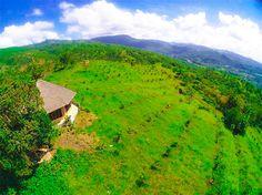 Picturesque fields on Tablas Island, Romblon, Philippines