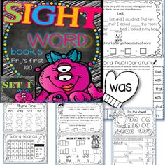 Sight Word Books. $