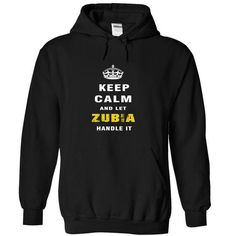 Keep Calm and Let ZUBIA Handle It - #cool sweater #ugly sweater. FASTER:   => https://www.sunfrog.com/Christmas/Keep-Calm-and-Let-ZUBIA-Handle-It-memdk-Black-Hoodie.html?id=60505