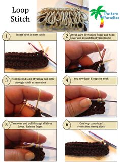 Loop Stitch Crochet Tutorial