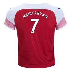 Support Mkhitaryan with pride. The Arsenal Home Jersey comes with a fresh design with the same red and white colors that make up Arsenal. Arsenal Kit, Youth, Soccer, Products, Football, Futbol, European Football, Young Man, Soccer Ball