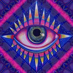 hallucinating eyeball? G.c.FIEND Trippy Painting, Eye Painting, Psychedelic Art, Trippy Eye, Pop Art, Hippie Art, Art Inspo, Art Nouveau, Art Drawings