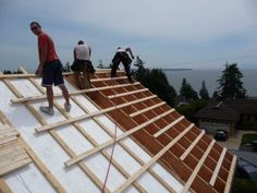Roof rafters and rigid insulation- Tamlin Home Packages