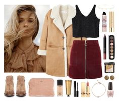"""""""Lorala"""" by sophiehackett ❤ liked on Polyvore featuring H by Hudson, MANGO, Balmain, Kate Spade, MAC Cosmetics, Stila, Haeckels, Marc Jacobs, Bumble and bumble and Le Métier de Beauté"""